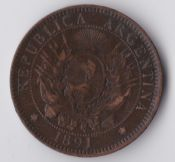 Argentina, Two Centavos 1891, VF, WO745